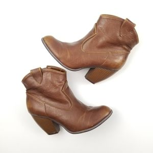 Not Rated Chestnut Brown Ankle Boots